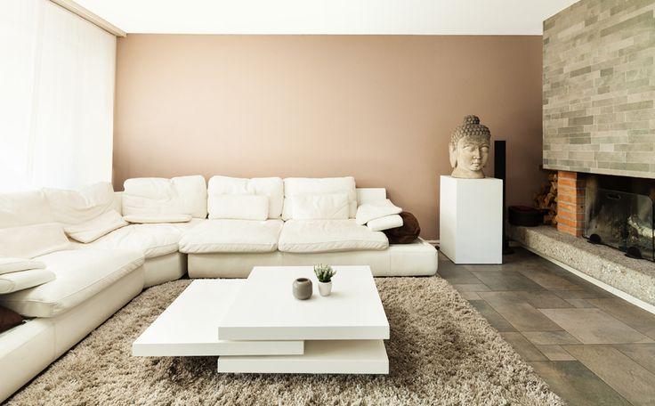 Aardetinten woonkamer (deze kleur zou ook wel kunnen in de bureau)