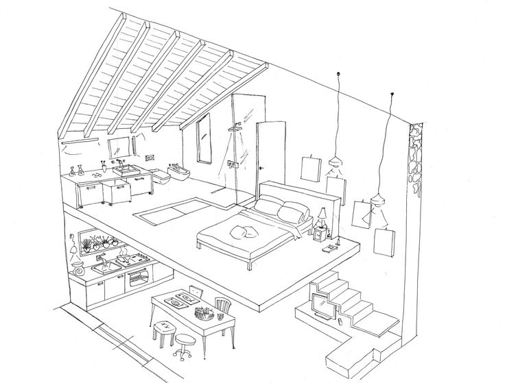 Interior Design Coloring Pages