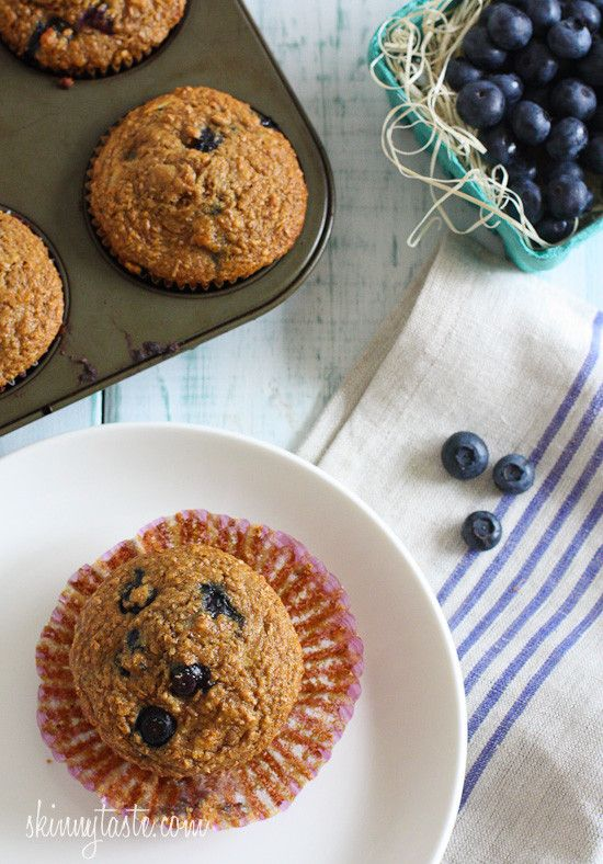 Start your morning right with these healthy bran muffins lightly sweetened with honey, fresh blueberries and coconut flakes. So moist and delicious, you won't even realize they are light.    Someone recently shared this bran muffin recipe with me and I am glad she did. It's been years since I had a bran muffin, but my first time actually making them and I was surprised how good they turned out. Enjoy one for breakfast with a cup of coffee or tea and you are good to go. Freeze the rest to...