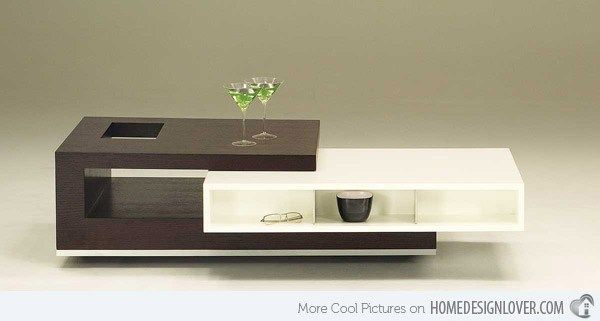 10 Modern Center Tables Made From Wood For A Living Room Contemporary Coffee Table Center Table Living Room Tea Table Design