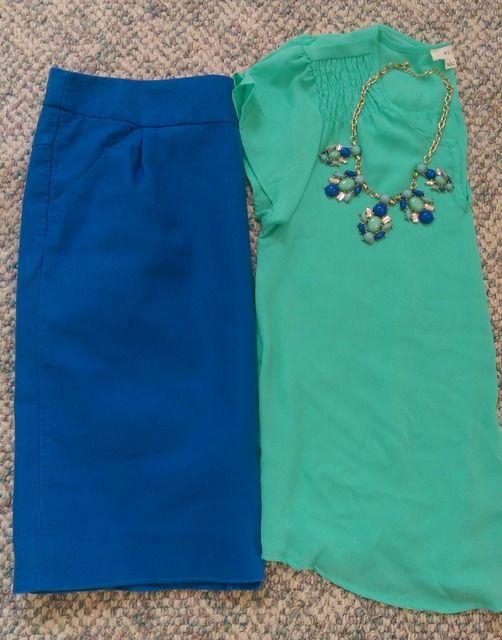 $20 Modest Outfit Challenge. Mint & Cobalt. Modest Outfit Ideas. Modern Modesty Blog.