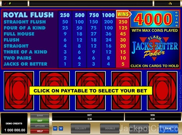 Great selection of 103 free Video Poker games >> jackpotcity.co/free-video-poker.aspx
