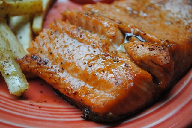super quick and easy honey-soy glazed salmon