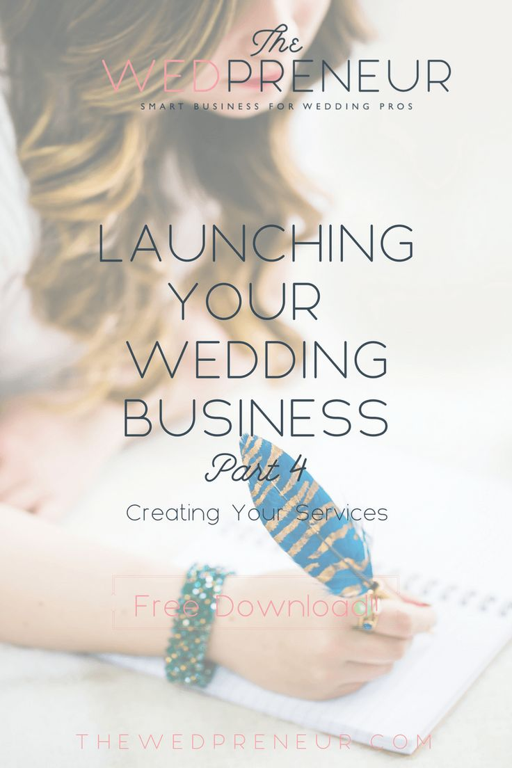 Wedding business basics:  How to choose your services for your wedding business. www.thewedpreneur.com