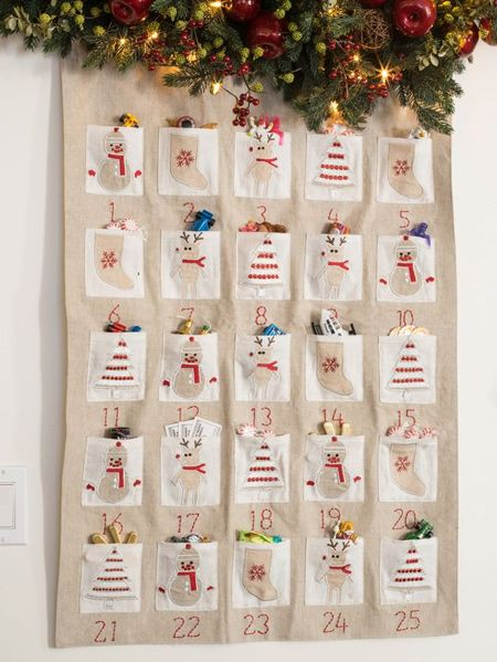 Home Dzine Craft Ideas Make Your Own Advent Calendar Christmas