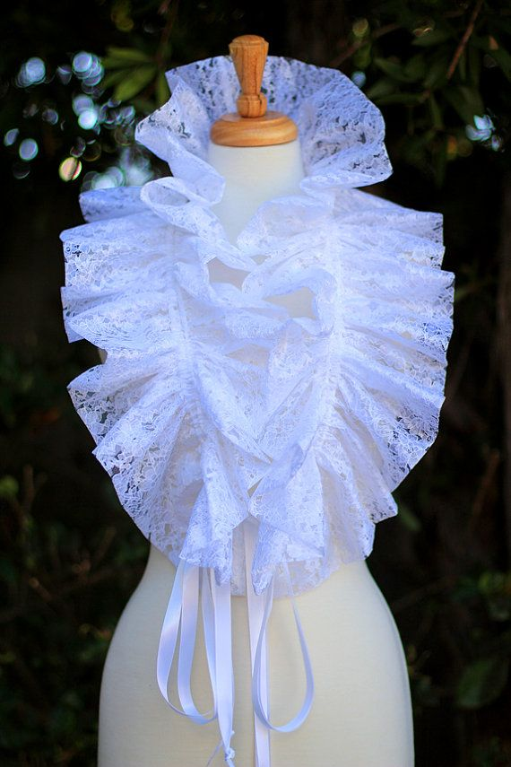 White Lace Collar Fashion Neck Ruff for by mademoisellemermaid