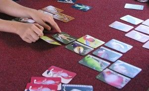 Trading cards to make a CLOAK OF PROTECTION