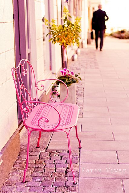 Pretty in pink bench