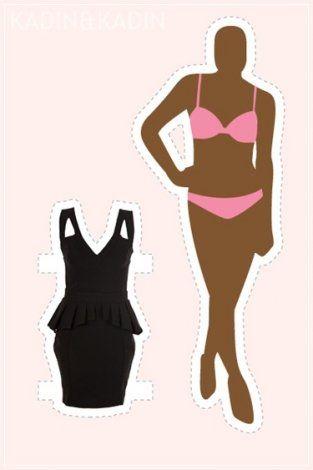 14 vücut tipi için 14 elbise modeli 9