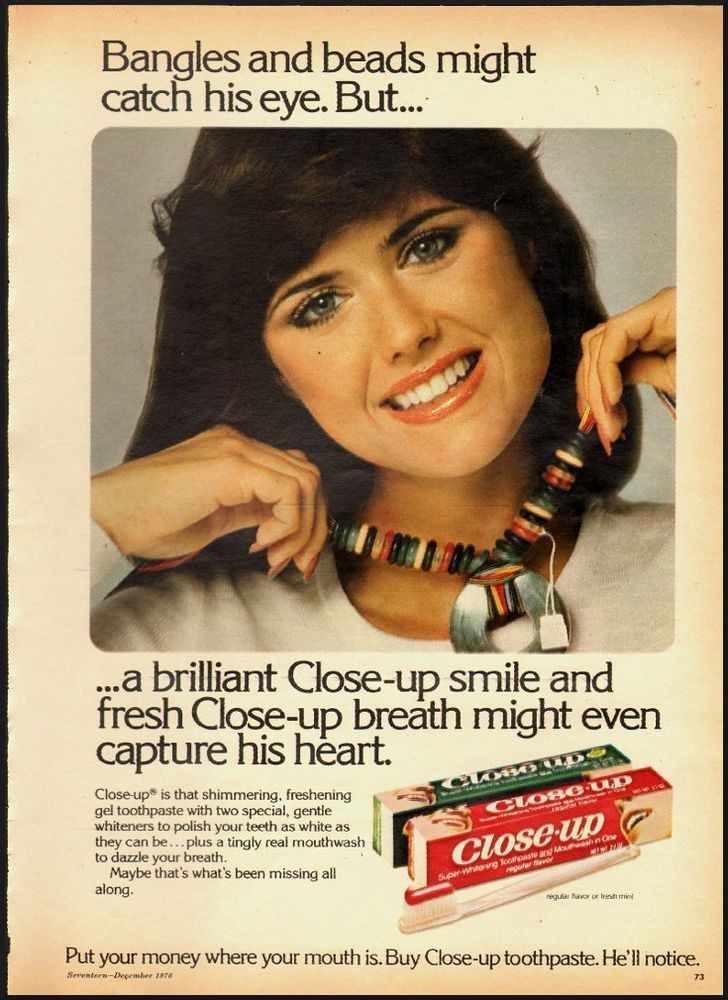 1976 Vintage ad for Close-up toothpaste (092812)