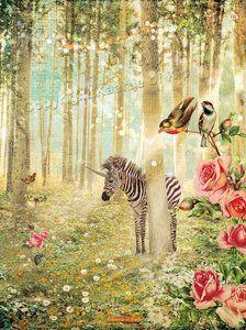Poster Babykamer, Prachtige Droomposter van Kaartje of Kip met Zebra en Gedicht. -Dreumesenzo.nl