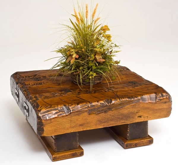 Barnwood Coffee Table Triple Beam Design -  Item # CT03005 - Limited Availablity - Custom Sizes - Made From Salvaged Barnwood
