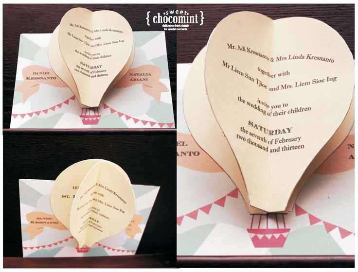 up themed invitation | It's a sweet ChocoMint Day : Personalized semi DIY invitation