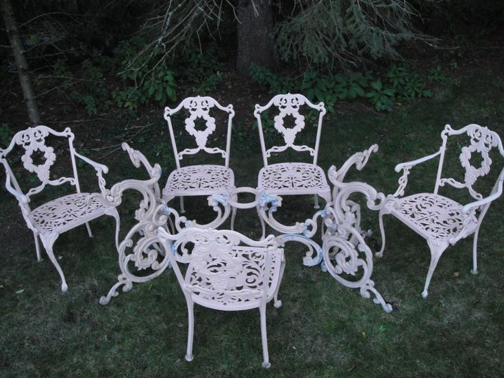 Cast Iron Outdoor Furniture Part - 44: Cast Iron Outdoor Furniture Set