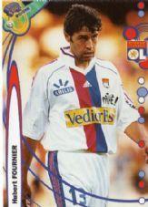 LYON - Hubert Fournier #76 FRANCE FOOT 1999/2000 Football Trading Cards