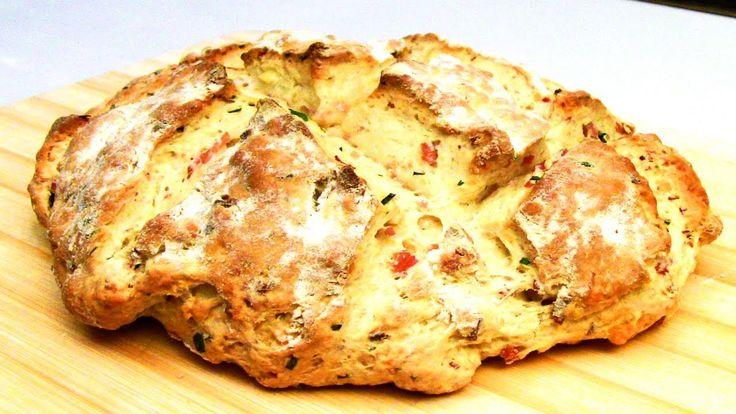 Cheese, Bacon And Chives Damper Bread Recipe, via YouTube.