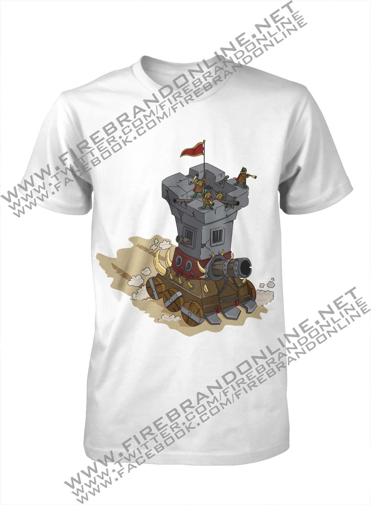 "(Unisex Tees) ""Fortress"": For more interesting design please visit: www.firebrandonline.net"