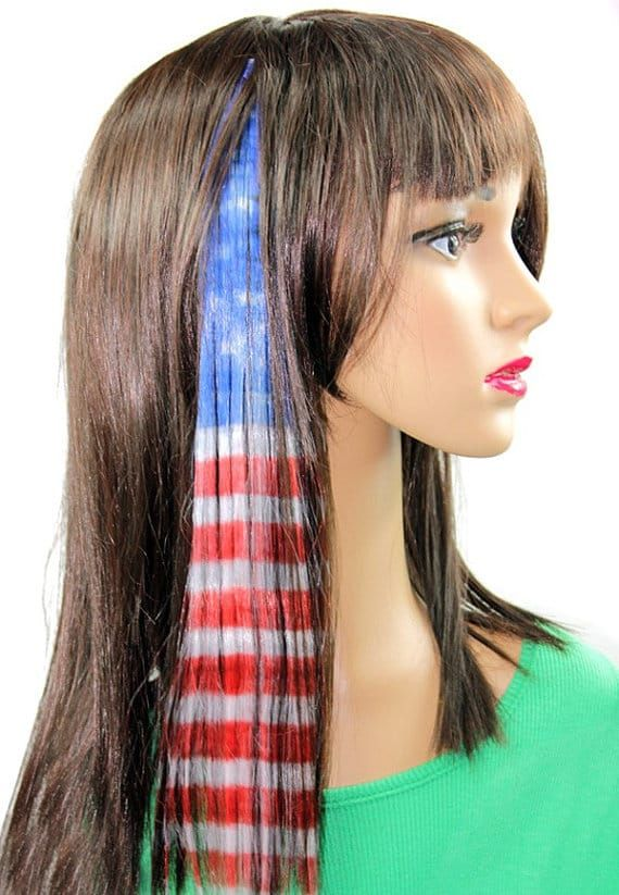 Nothing Says Freedom Like The American Flag Flying High In The Air Check Out Some Of The Coolest American Fla Creative Hair Color Hair Inspo Color Geek Hair