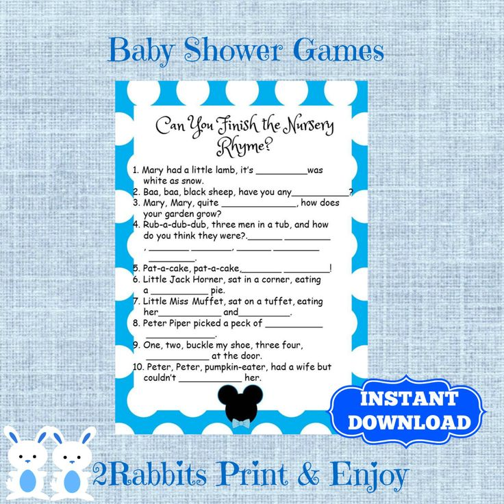 mickey mouse finish nursery rhymes baby shower disney baby shower nursery rhyme quiz fill the blanks with nursery rhyme instant download