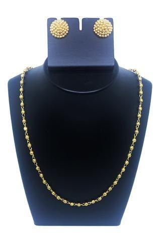 Single beads mala with thushi ear rings