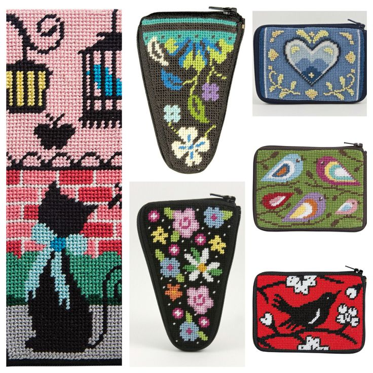 New arrivals...Alice Peterson Stitch & Zip; Eye Glass Cases, Scissor Cases and Coin Purses. We love these preassembled, easy to stitch, complete kits! They make the perfect present or a fun little project for yourself!!   http://www.luciatapestrieswoolcrafts.com.au/buy-online/ALICE-PETERSON-STITCH-ZIP-KITS/