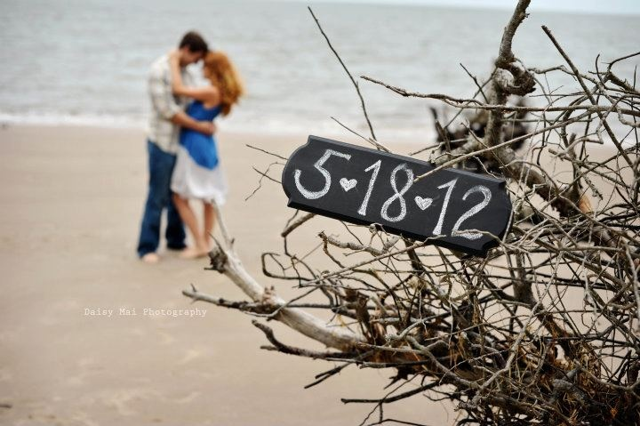 Save the date idea at the beach.