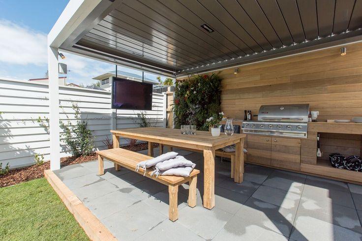 The Block NZ  Villa Wars Outdoor Rooms and Guest Room Redo - garten lounge uberdacht