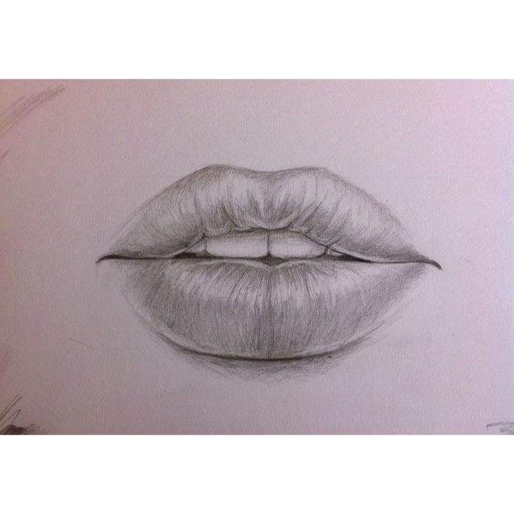 pencil drawing of lips. | artsy | Pinterest