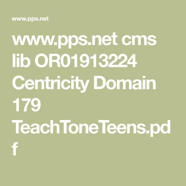 www.pps.net cms lib OR01913224 Centricity Domain 179 TeachToneTeens.pdf