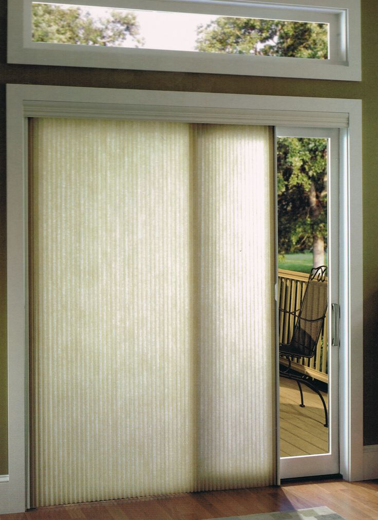 Kensington honeycomb shades window shades window blinds for Sliding doors patio doors