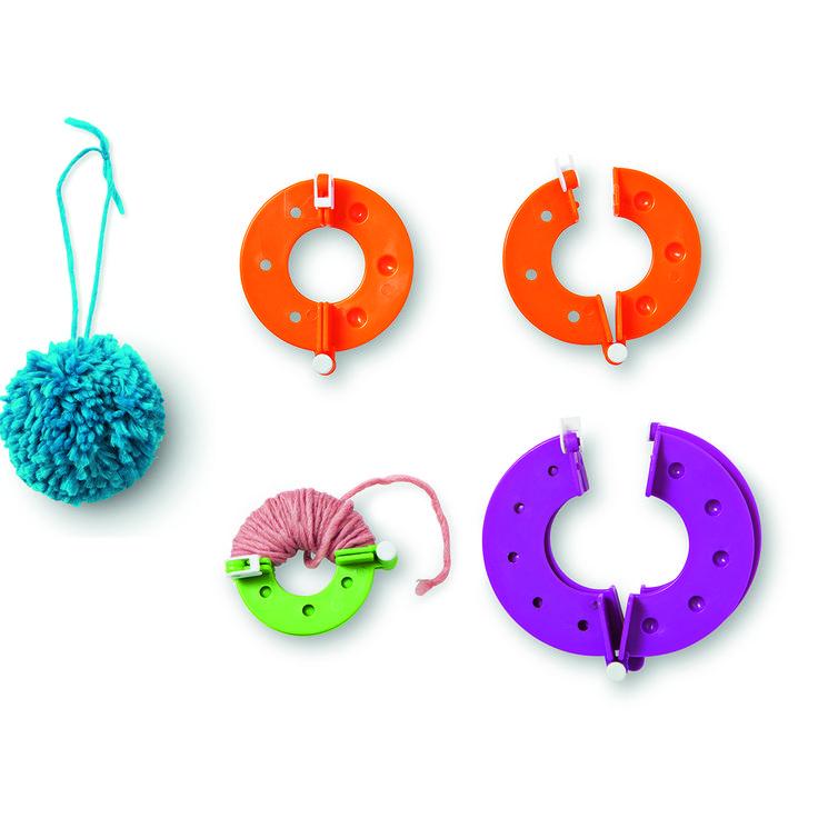 Zestaw do robienia pomponów (3 rozmiary:  5,5 cm, 7 cm, 9 cm) #pompommaker