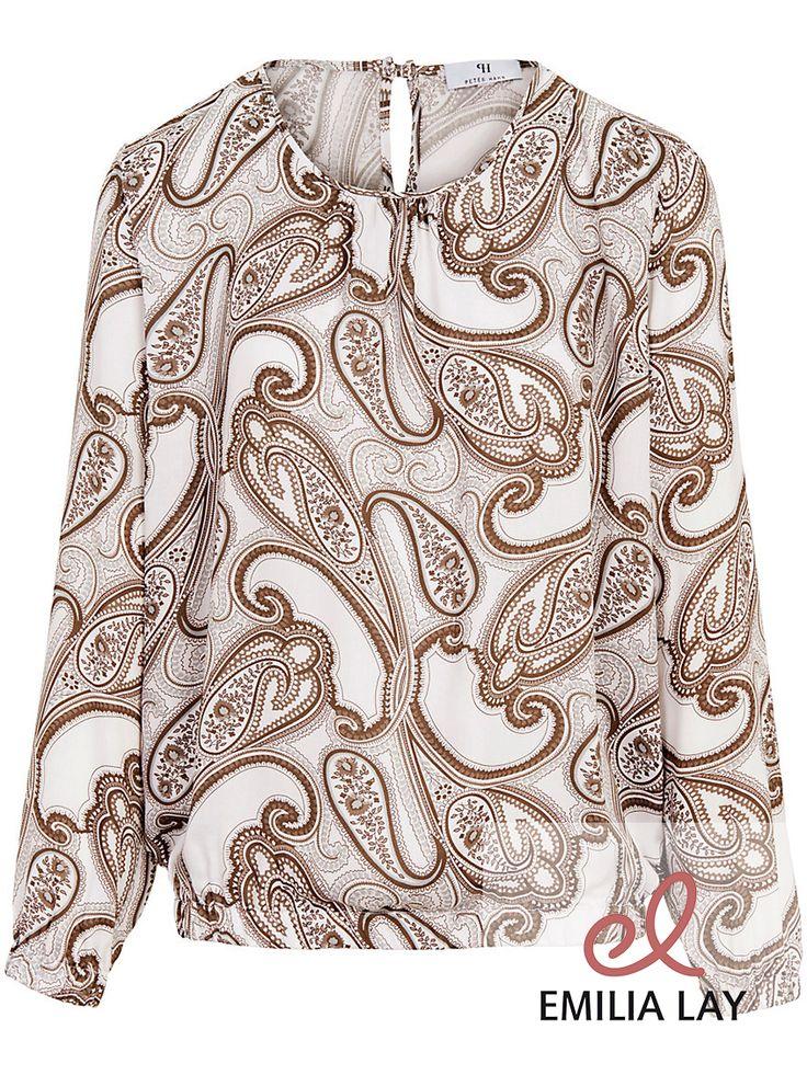 Die Bluse von Peter Hahn – ein Fashion-Star mit superedlem Paisley-Druck.