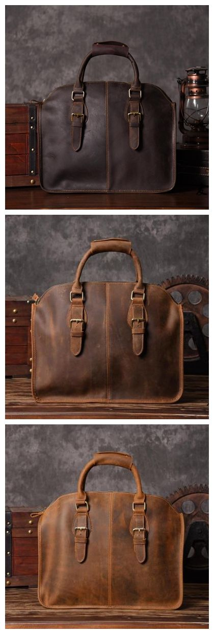 HANDCRAFTED ANTIQUE LEATHER LAPTOP BAG LEATHER BRIEFCASE MEN LEATHER MESSENGER…