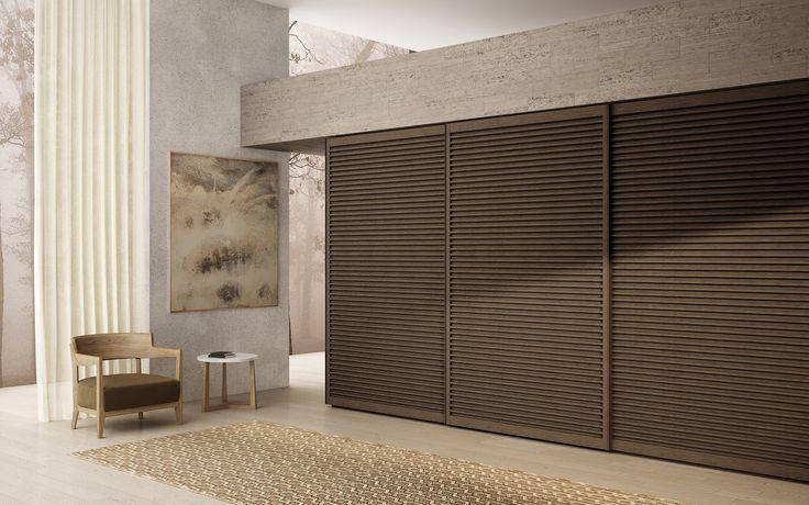 Wenge wardrobe with sliding doors AMADO by EmmeBi design Pietro Arosio