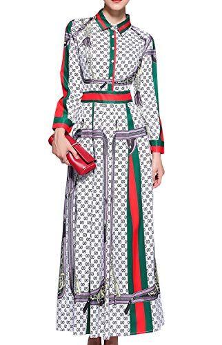 E Girl Kqh497damen Langes Kleid Langarm Satin A Linie Maxi Kleid Kleider Partykleid Abendkleidgrunxl Eu 40 Partykleid Lange Kleider Abendkleid