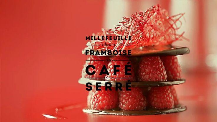 ROUGE by Carte Noire : Millefeuille choco-framboise au café serré on Vimeo