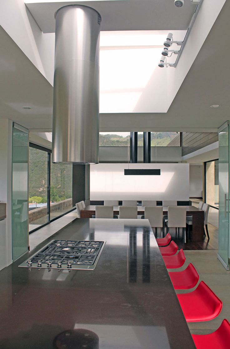 AR House with Panoramic Mountain Views in La Calera, Colombia by Campuzano Architects. Homesandlifestylemedia.com #design #architecture #kitchen