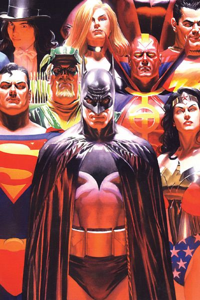 Alex Ross, whom by the way is a bad ass. Interesting how Batman is in front.