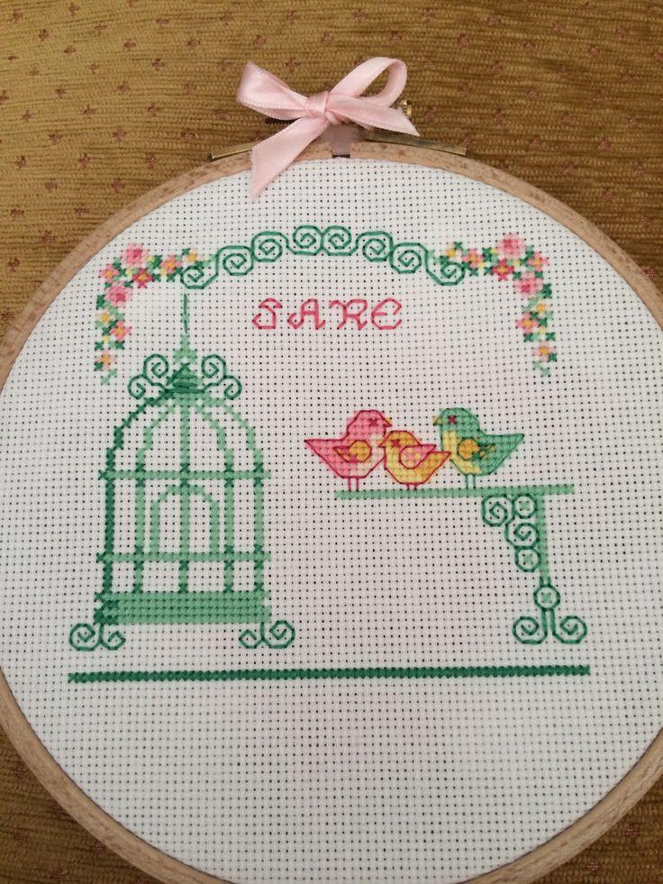 Cross stitch kanaviçe kuş