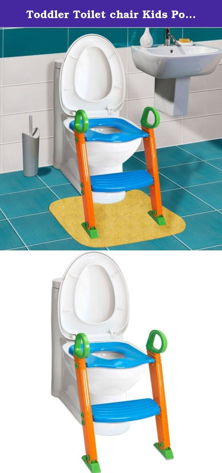 Toddler Toilet chair Kids Potty Training Seat With Step Stool Ladder. About the product: ● BABY STEPS TOILET SEAT COVER AND STEP: Perfect for potty training toddlers and youngsters our baby steps toilet seat cover is the final step towards completed potty training. Help you little one take those final steps with this safe and easy to use cover and step. ● COMFORTABLE SEAT & HANDLES: Seat is contoured for a secure fit and safe seating. Contoured splash guard helps keep seat clean and germ...