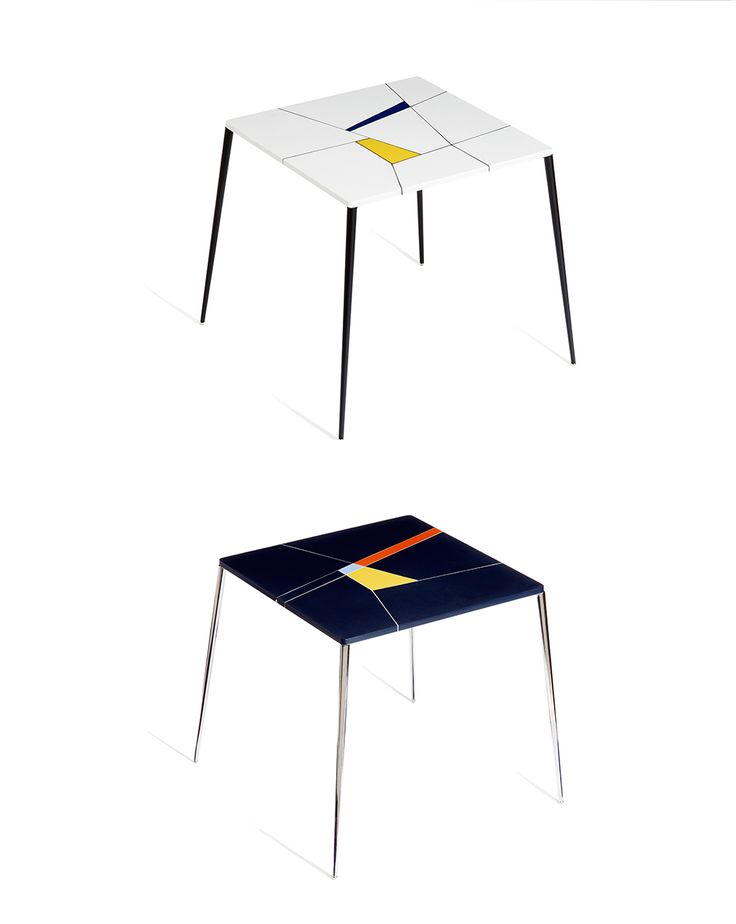 TZERO TABLES, by Franco Eccel. Made from HI-MACS®': these tables are crafted from architectural and interior design offcuts and assembled with special adhesives that form a distinctive decorative element.