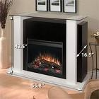 niceeDimplex Bella, Black And White, White Electric, White Fireplaces Mantels, Bella 26, Accessories, Products, Bella Electric, Electric Fireplaces