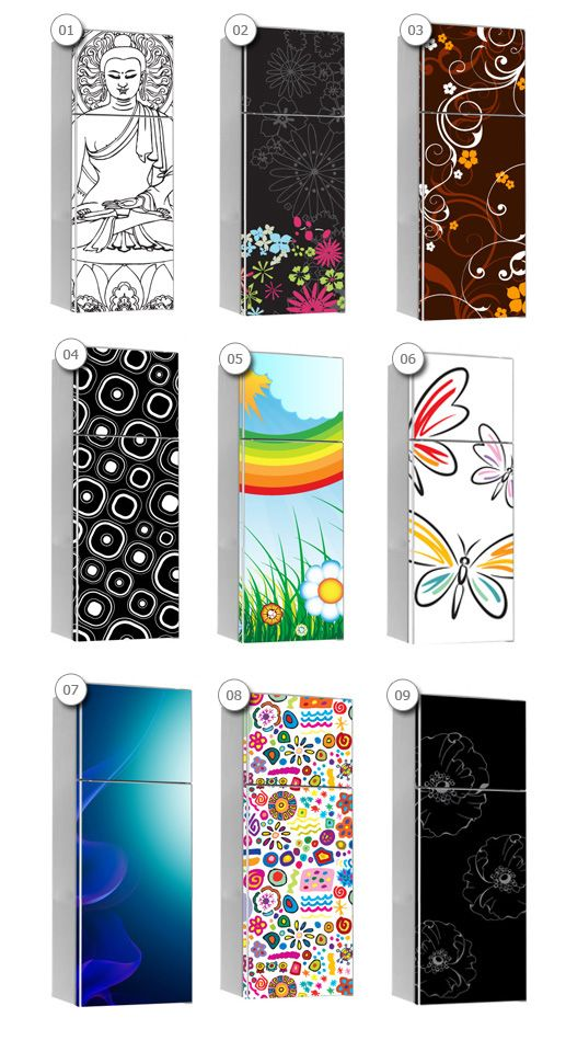 Print Stickers - Vinyl Cover for fridges - Wall Decals , Home WallArt Decals