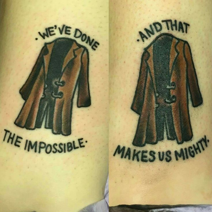 My new tattoo as a best friend tattoo with my girl hailey its a firefly tattoo with our favorite quote we've done the impossible and that makes us mighty #traditional #traditionaltattoo #firefly #browncoat #bestfriendtattoo #ancletattoo #legtattoo #serenity #shiny #malrenalds #fandom #fandomtattoo