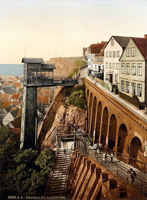 Grand Staircase - Helgoland, Germany, ca. 1895  © Library of Congress | by trialsanderrors | via ysvoice