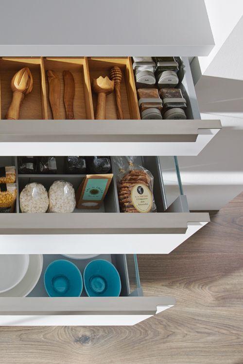 Für Die Optimale Raumnutzung Gibt Es Diverse Schubladeneinsätze, Die  Ordnung Schaffen. #küche #