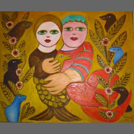 Embracing Couple, 2006. Gorgeous - that earthy, ochre background holds them so tenderly.