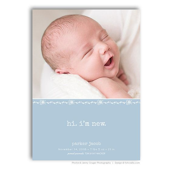 The 25 best birth announcement template ideas on pinterest birth announcement template baby announcement card von fotovella pronofoot35fo Choice Image