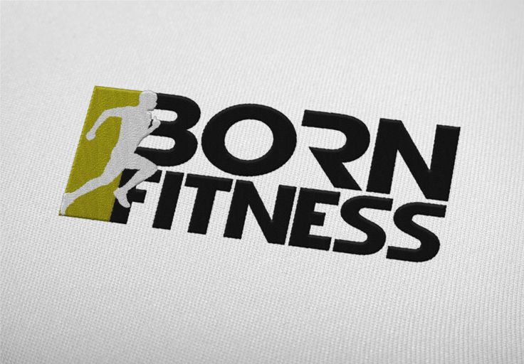 Born Fitness Logo Mocked Embroidery, By JCT Design
