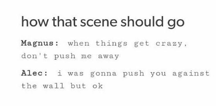 How the Malec scene should go | The scene is referring to the one in of the Shadowhunters Season 2 Teaser Trailers | Magnus and Alec